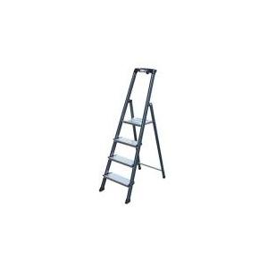 KRAUSE Állólétra, 5 lépcsőfokos, eloxált, KRAUSE Securo