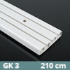 Mennyezeti műanyag karnis (GK3) - 3 soros - 210 cm
