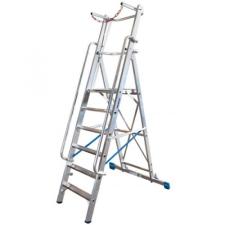 KRAUSE - Stabilo lépcsőfokos állólétra nagy dobogóval és kapaszkodókerettel 12 fokos (profi) létra és állvány