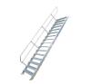 KRAUSE - Ipari lépcső 600mm 60° bordázott alu fokkal 4 fokos létra és állvány