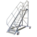 KRAUSE - Ipari lépcső dobogóval, gurítható 600mm 60° 14 fokos