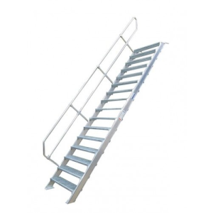 KRAUSE - Ipari lépcső 800mm 60° bordázott alu fokkal 5 fokos