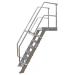 KRAUSE - Ipari lépcső dobogóval 1000mm 60° bordázott alu fokkal 18 fokos