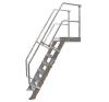KRAUSE - Ipari lépcső dobogóval 1000mm 60° bordázott alu fokkal 4 fokos létra és állvány