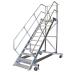 KRAUSE - Ipari lépcső dobogóval, gurítható 1000mm 60° 18 fokos