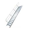 KRAUSE - Ipari lépcső 600mm 60° bordázott alu fokkal 12 fokos