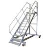 KRAUSE - Ipari lépcső dobogóval, gurítható 600mm 60° 10 fokos
