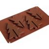 Karácsonyfa alakú szilikon csokoládé forma