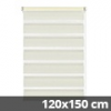 Easy fix doppel roló, krém, ablakra: 120x150 cm