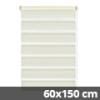 Easy fix doppel roló, krém, ablakra: 60x150 cm