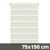 Easy fix doppel roló, krém, ablakra: 75x150 cm
