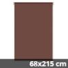 Mini roló, csokoládébarna, ajtóra: 68x215 cm