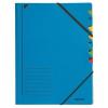 GUMIS mappa, karton, A4, regiszteres, 7 részes, LEITZ, kék (E39070035)