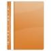 Gyorsfűző, lefűzhető, PVC, A4, DONAU, narancssárga (10db)