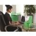 """Írószertartó, műanyag, FELLOWES """"Green2Desk"""", zöld (IFW00161)"""
