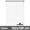 Hőszigetelő roló, Thermo, fehér csíkos, ablakra: 162x180 cm