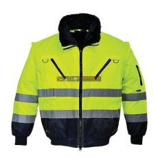 Portwest PJ50 Hi-Vis 3 az 1-ben Pilóta kabát (Sárga/Navy - XXL )