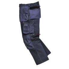 Portwest BP51 Boulder kontraszt varrású nadrág (FEKETE, L, Hosszított)