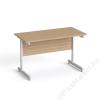 MAYAH Íróasztal, szürke fémlábbal, 120x70 cm, MAYAH Freedom SV-25, kőris (IBXA25K)
