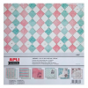 APLI Mintás kartonpapír Scrapbooking-hoz, 30,5 x 30,5 cm ,,