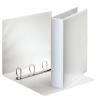 ESSELTE Gyűrűs könyv, panorámás, 4 gyűrű, D alakú, 65 mm, A4, PP/PP, , fehér