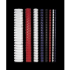 FELLOWES Spirál, műanyag, 12 mm, 56-80 lap, , 25 db, piros
