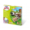 """FIMO Gyurma készlet, 4x42 g, égethető,  """"Kids Form & Play"""", farm"""