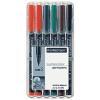 """STAEDTLER Alkoholos marker készlet, OHP, 0,4 mm,  """"Lumocolor 313 S"""", 6 különböző szín"""