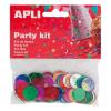 APLI Konfetti, metál,15 mm, kör, , vegyes színek