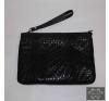 Nyomott mintás fekete kézitáska kézitáska és bőrönd