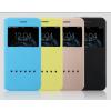USAMS Apple iPhone 6 oldalra nyíló bőr tok, hívásfogadással, USAMS Zero, arany