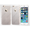 USAMS Apple iPhone 6 Plus, Műanyag hátlap védőtok, USAMS Starry Twinkle, csillagminta, ezüst