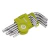 Extol TORX kulcs klt., rövid, Cr40, TÜV/GS; 9db, T10-T50, egyik vége lyukas (Torx kulcs)