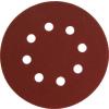 Extol Csiszolókorong vászon, lyukas klt. 10db, 125mm, 8 db lyukkal, P120 (Csiszolókorong vászon)