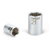 "Fortum Dugófej, 1/2"", 22mm, 61CrV5, mattkróm, 38mm hosszú (Dugófej)"