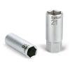 "Fortum Gyertyakulcs dugófej 1/2"", 61CrV5; 21mm, gumírozott (Dugófej)"