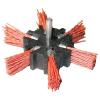 PVC csiszoló körkefe, 100mm, 6mm-es csap, fúróba fogható, max. 4500 ford./perc (PVC csiszoló körkefe)