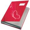 """Leitz Aláírókönyv, A4, 18 részes, karton, LEITZ """"Design"""", piros"""