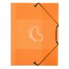 """VIQUEL Gumis mappa, 15 mm, PP, A4, VIQUEL """"Propyglass"""", narancssárga"""