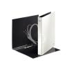 """Leitz Gyűrűs könyv, 2 gyűrű, D alakú, 40 mm, A4 Maxi, karton, lakkfényű, LEITZ """"Wow"""", fehér"""