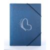 "PANTA PLAST Gumis mappa, 15 mm, PP, A4, PANTA PLAST ""Simple"", metál kék"