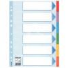 """ESSELTE Regiszter, karton, A4, 6 részes, írható előlappal, ESSELTE """"Standard"""", színes"""