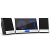 oneConcept Vertical 90, sztereó rendszer, CD, USB, MP3, SD, AUX, fekete