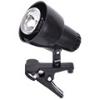 clip polcra, asztalra csíptethető lámpatest (E14) fekete