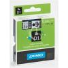 """DYMO Feliratozógép szalag, 19 mm x 7 m, DYMO """"D1"""", fehér-fekete"""