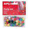 APLI Konfetti, metál,15 mm, csillag, APLI, vegyes színek (LCA13821)