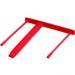 FELLOWES Lefűző klipp, műanyag, piros, 85 mm, FELLOWES (100db)