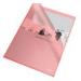 Leitz Genotherm, L, A4, 105 mikron, narancsos felület, ESSELTE Standard, piros (25db)