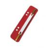 Lefűzőlapocska, PP, ESSELTE, piros (100db)