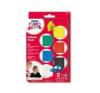 Gyurma készlet, 6x42 g, égethető, FIMO Kids Color Pack, 6 alapszín süthető gyurma